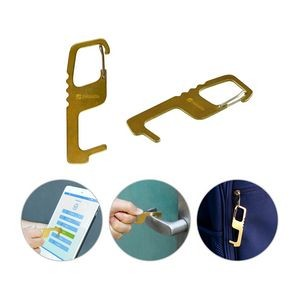 Antibacterial Touchless Brass Keytag